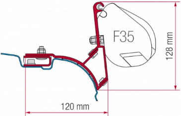 Fiamma F35 Awning Adapter Kit - VW T5/T6 Transporter UK